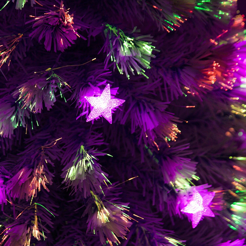 Christmas Tree Fiber Optic Lights: Aosom: 5' Artificial Holiday Fiber Optic / LED Light Up