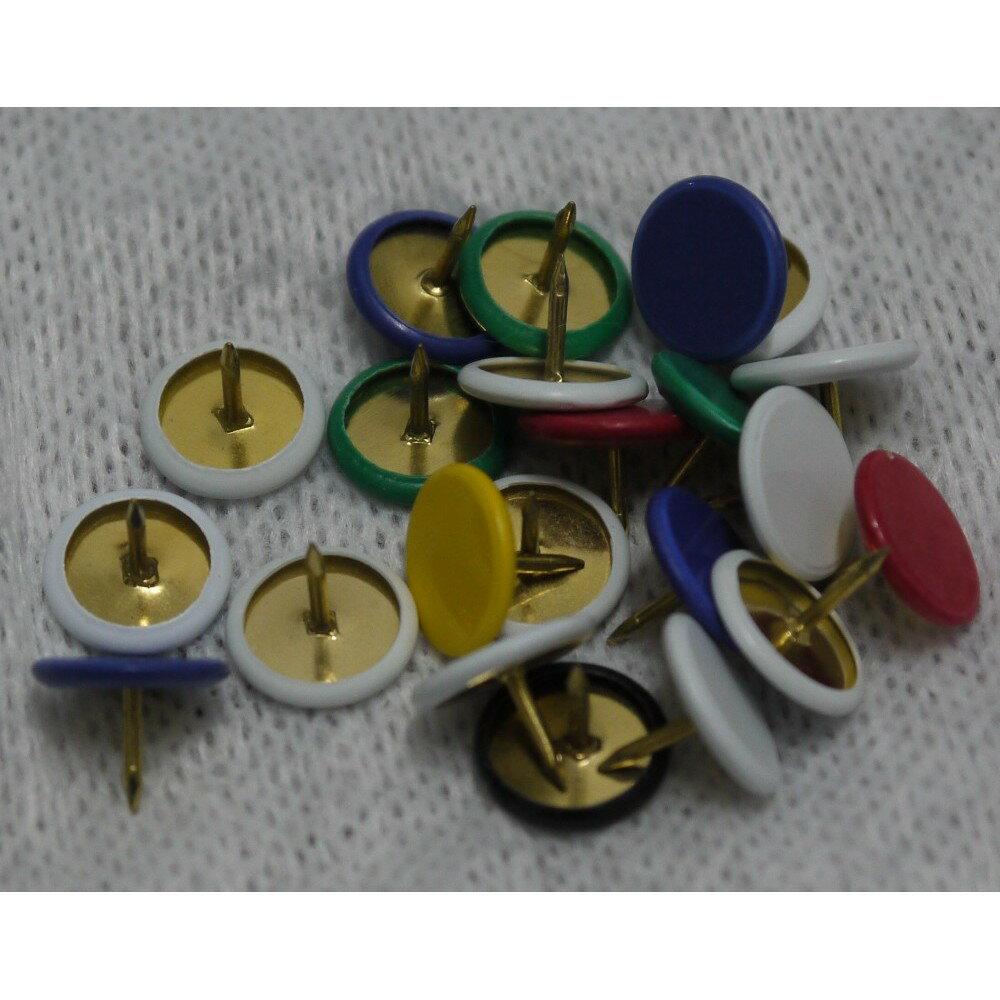 彩色圖釘 100元可買1000支圖釘 PVC披覆圖釘 thumbtacks 辦公用品 安全圖釘 造型圖釘 文具圖釘