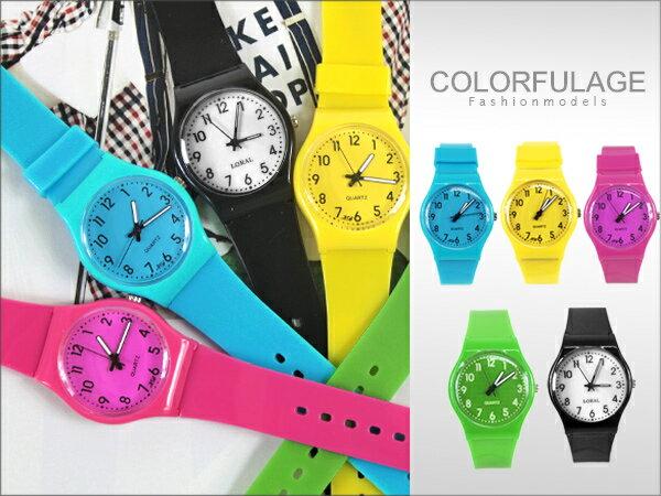柒彩年代【NE600】史上最輕巧矽膠男女兼用手錶 果凍系列馬卡龍色腕錶~單支價格 0