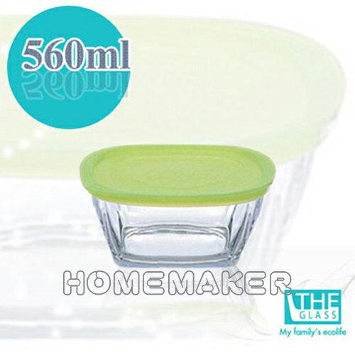 【THE GLASS】 綠蓋精緻保鮮盒1入(560ml) TG-P736