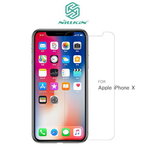 強尼拍賣~NILLKINAppleiPhoneX超清防指紋保護貼套裝版含鏡頭貼螢幕保護貼