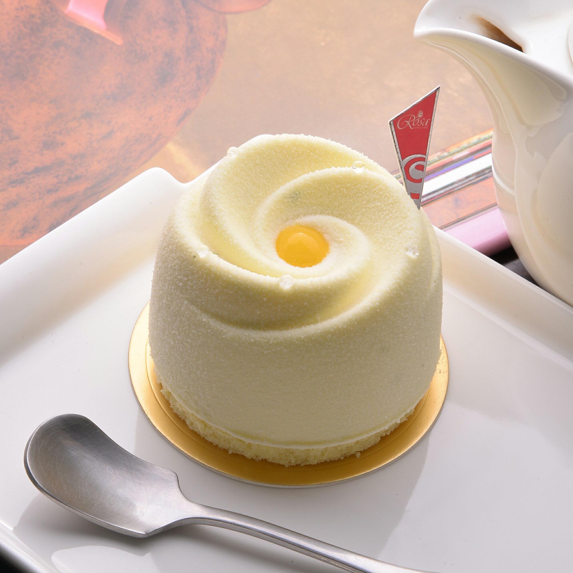 【羅撒法式西點】百香芒果檸檬慕斯蛋糕~「白色戀人」★5月全館滿499免運