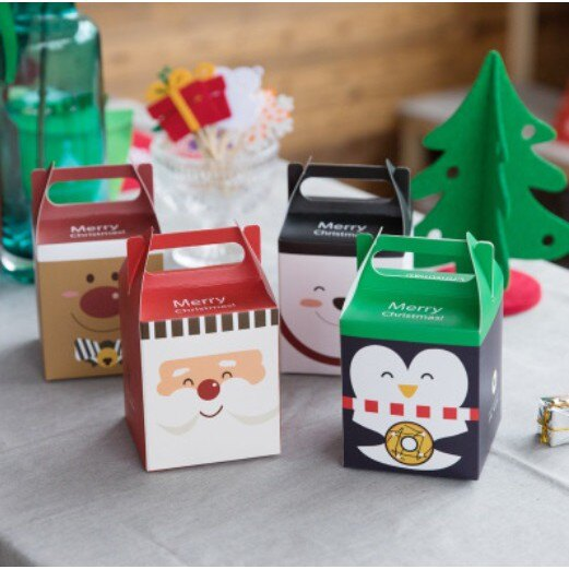 【嚴選SHOP】精緻聖誕節禮盒 禮物盒 聖誕 蘋果盒 包裝盒 糖果盒 餅乾盒 蛋糕盒 西點盒 禮品盒 手提盒【X005】