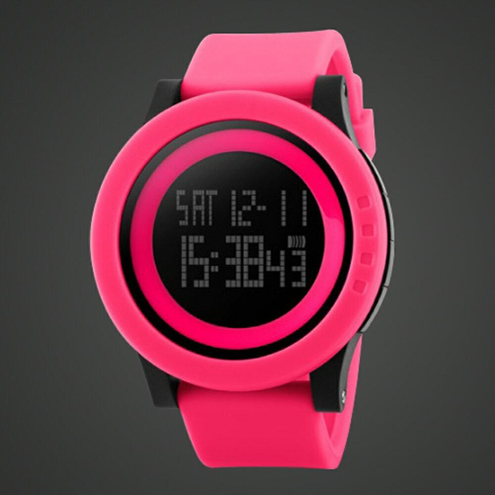 SKMEI時刻美 1142 酷炫螢光色大錶盤防水電子錶 4