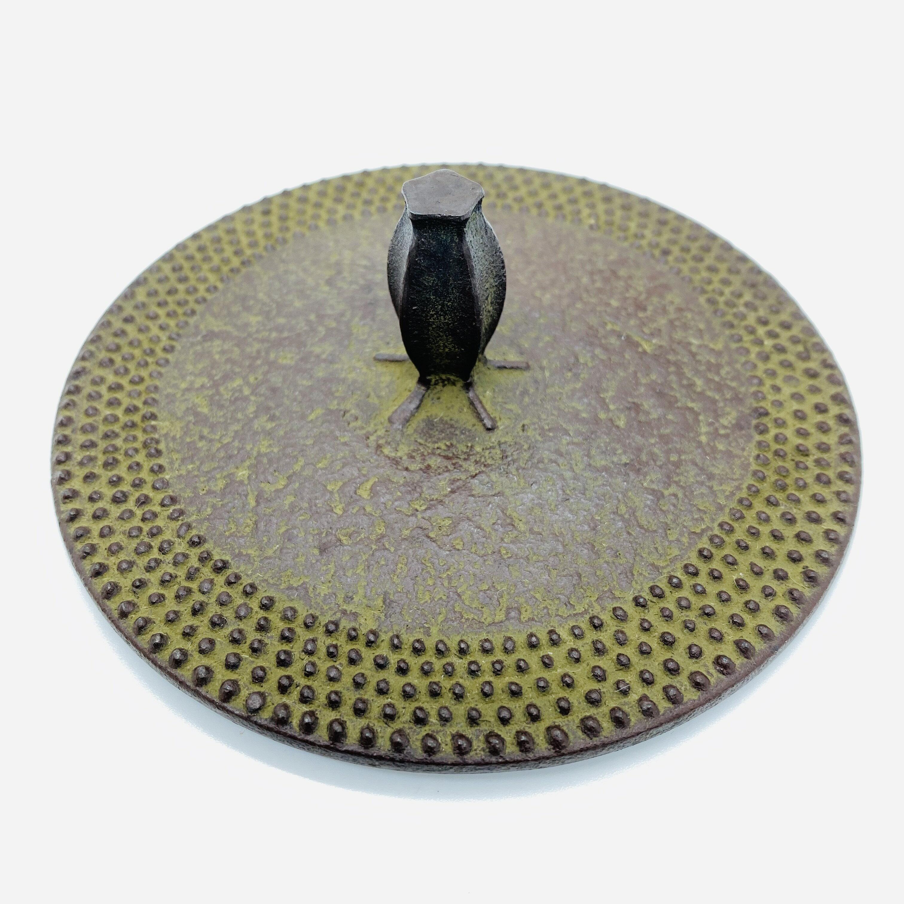 日本 本場南部鐵器-【佐藤勝久 平丸型 霰 1.5L】鐵壺 鉄瓶 煮水 泡茶 只有1個 4