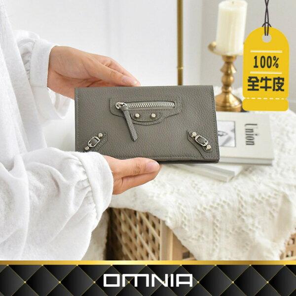 【韓國直送】皮夾韓國OMNIA小貓荔枝紋真皮護照套護照夾錢包皮包NO.3281L
