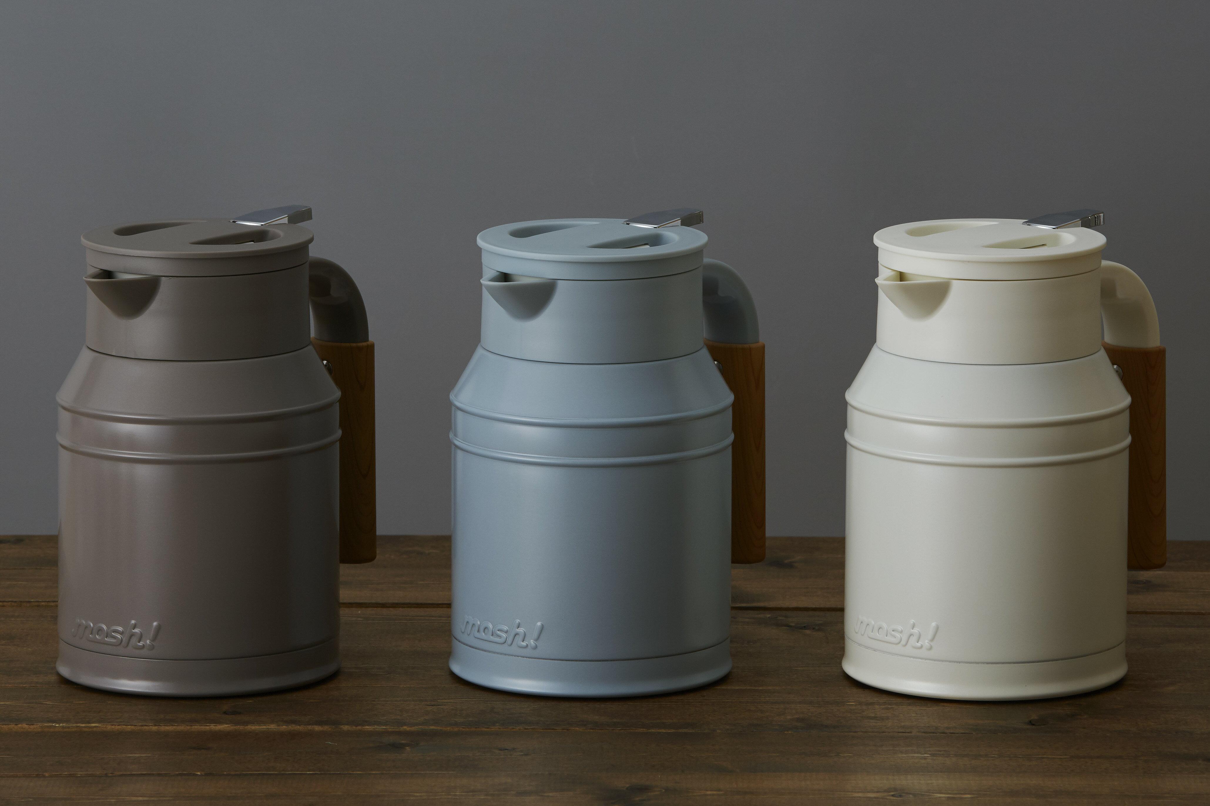 【日本mosh!】牛奶白 牛奶罐保溫壺 (1000ml) 5