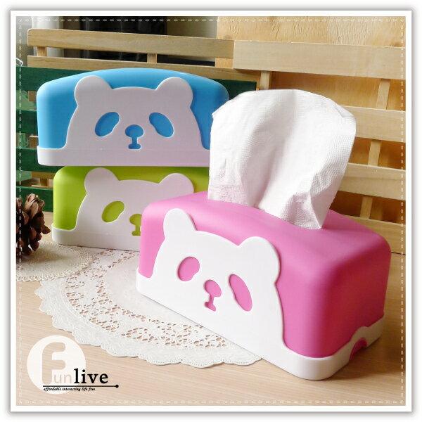 【aife life】貓熊面紙盒/面紙套/紙巾架/抽取式衛生紙盒/餐巾紙盒/熊貓 動物面紙盒
