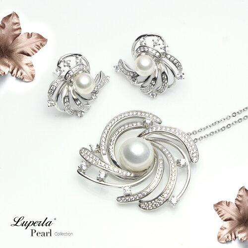 大東山珠寶 燦若繁星 日本AKOYA天然海水珍珠純銀晶鑽耳環 2