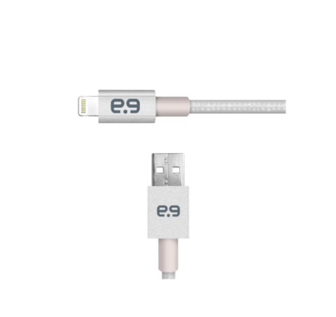 Puregear 普格爾雙 MFI認證-雙倍強韌系列-編織金屬充電傳輸線FOR Apple Lightning (1.2m) - 白