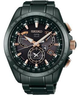 SeikoAstron8X53-0AB0P(SSE075J1)時尚鈦黑金太陽能GPS校時腕錶黑面44.6mm