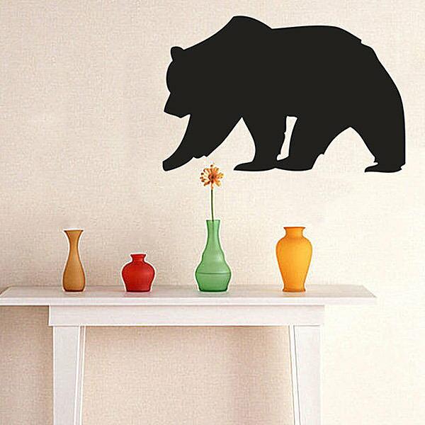 BO雜貨【YV4075】可移除黑板貼 壁貼 背景貼 時尚組合壁貼 璧貼 黑板貼- 棕熊