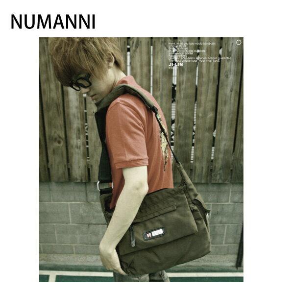 01-6600a【NUMANNI 奴曼尼】極簡風格設計斜背包 (綠)