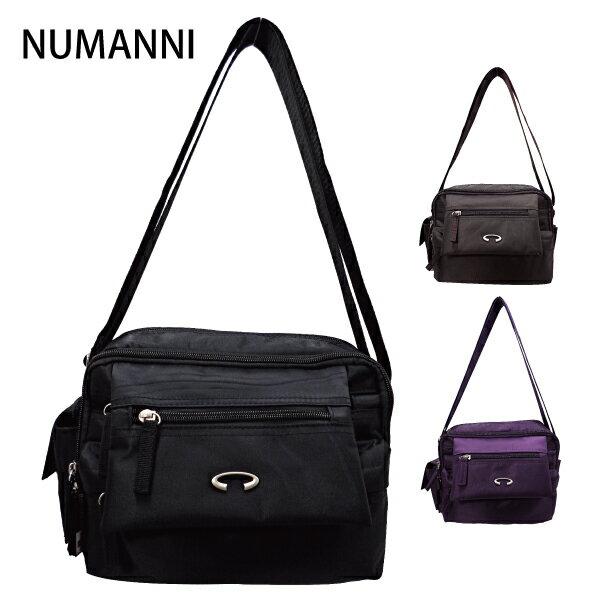 25-5538【NUMANNI 奴曼尼】高機能防水尼龍雙隔層側背包 (大款) (二色)