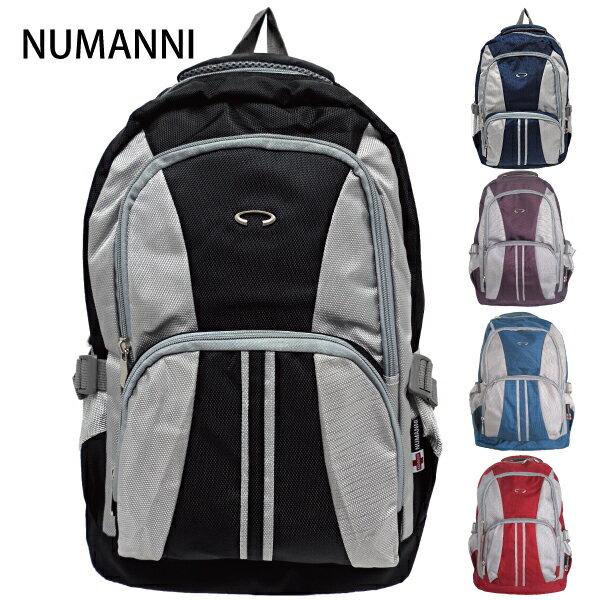 25-726【NUMANNI 奴曼尼】簡約款大容量尼龍後背包 (五色)