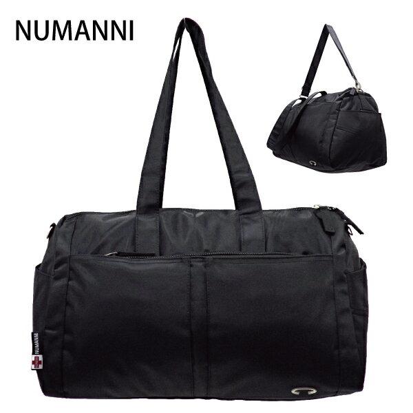 25-7738【NUMANNI 奴曼尼】實用型尼龍旅行袋 (小款) (黑)