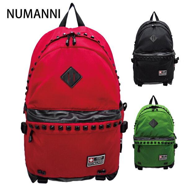 70-6047【NUMANNI 奴曼尼】鉚釘豬鼻電腦後背包 (三色)