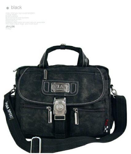 01-8011【PIAA 皮亞】水洗帆布沉穩氣質款可手提側背包(二色)