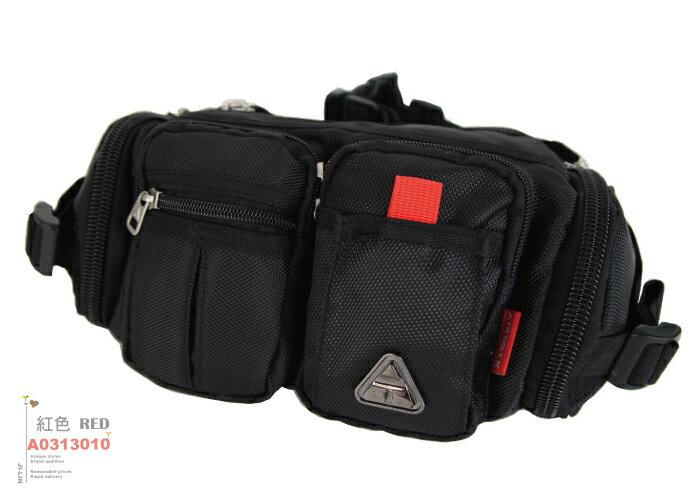 A0313010【美國AIRWALK】輕巧口袋式休閒尼龍腰包 (二色)