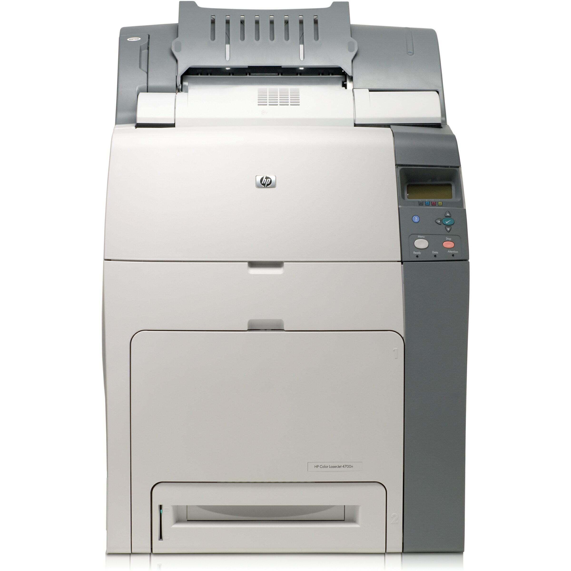 HP LaserJet 4700DN Laser Printer - Refurbished - Color - 600 x 600 dpi Print - Plain Paper Print - Desktop - 30 ppm Mono / 30 ppm Color Print - A4, A5, B5, DL Envelope, C5 Envelope, B5 Envelope, Custom Size - 200 sheets Standard Input Capacity - 100000 Du 1