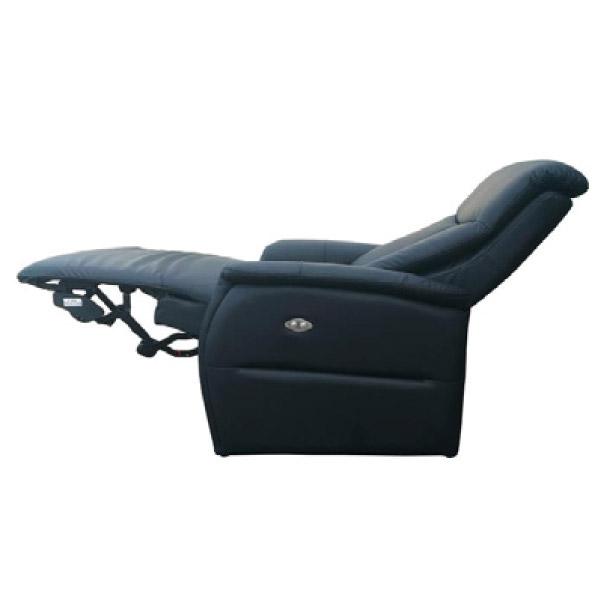 ◎半皮1人用電動可躺式沙發 CONFE-LT BK NITORI宜得利家居