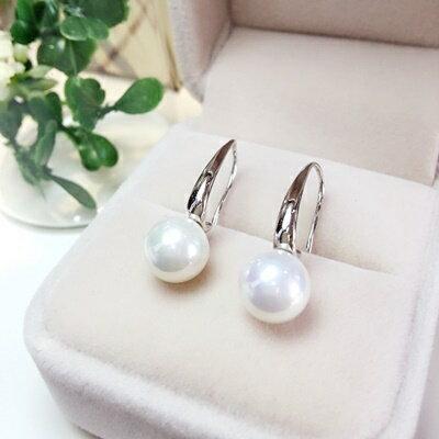 925純銀耳環珍珠耳飾~簡單大方優雅氣質生日情人節 女飾品73ia39~ ~~米蘭 ~