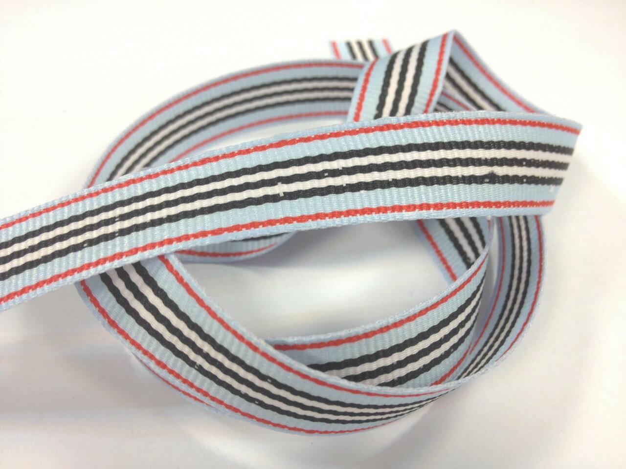 多條紋羅紋帶(五色) 1