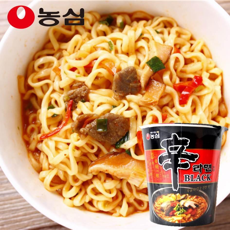 【農心】BLACK黑辛拉麵杯麵 即時泡麵 101g 韓式風味泡麵 韓國進口