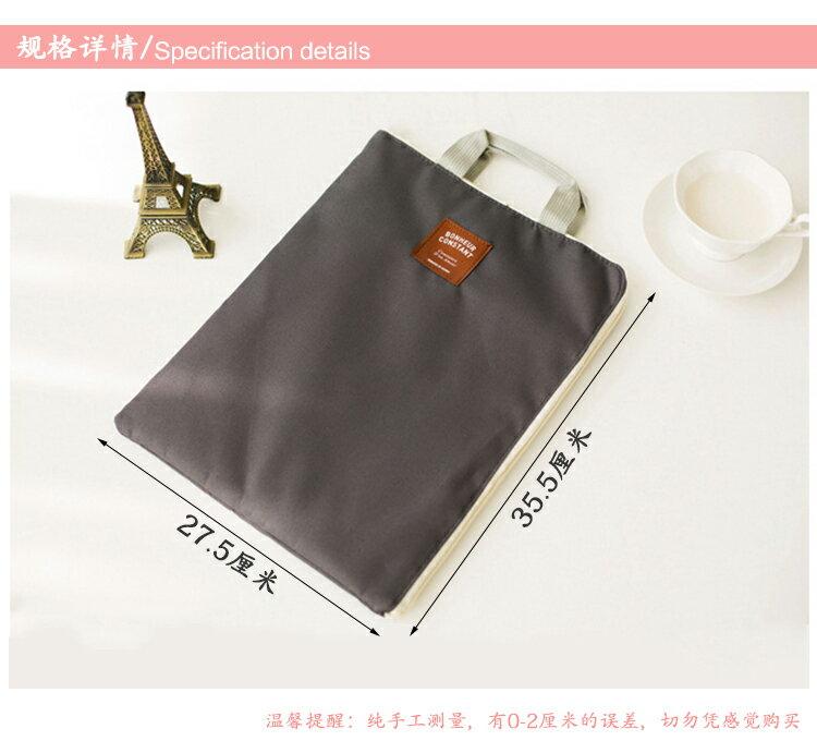 <br/><br/> 多功能多層A4文件袋手提iPad手機牛津帆佈公文包-炭灰色<br/><br/>