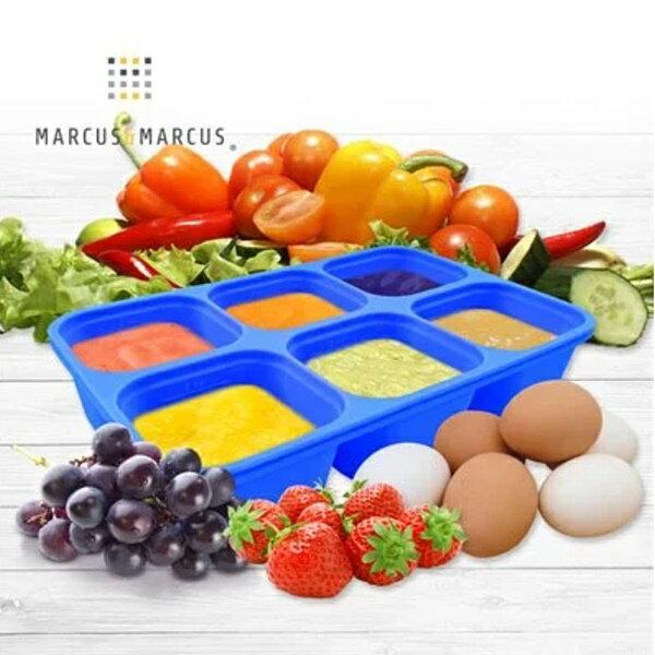 加拿大【MARCUS&MARCUS】動物樂園造型矽膠副食品分裝保存盒-粉紅豬(粉)
