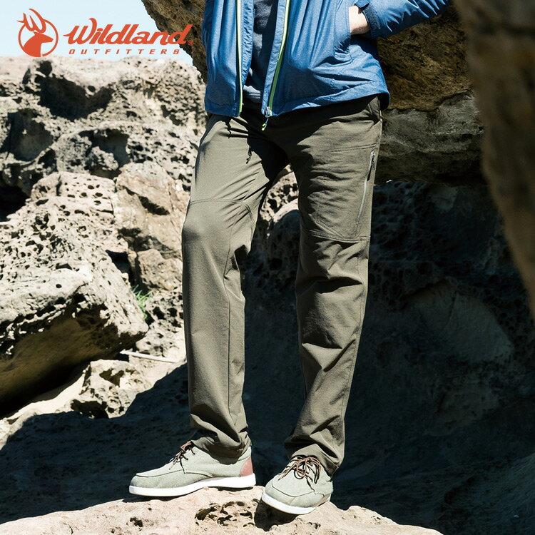【WildLand荒野】0A52398男RE粗曠多口袋保暖長褲 (M~2L) / 城市綠洲 (登山露營、戶外休閒、旅行)