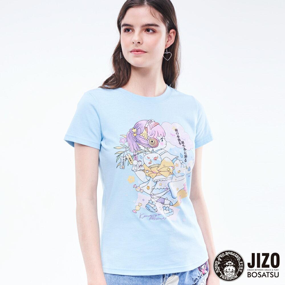 【2020春夏新品】金魚姬晴天娃娃短TEE(藍)  - BLUE WAY JIZO 地藏小王 0