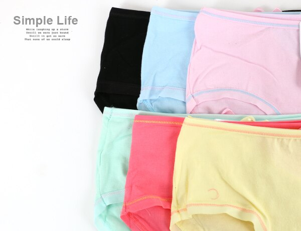 3件199免運【夢蒂兒】棉質單純少女三角褲3件組(隨機色) 1