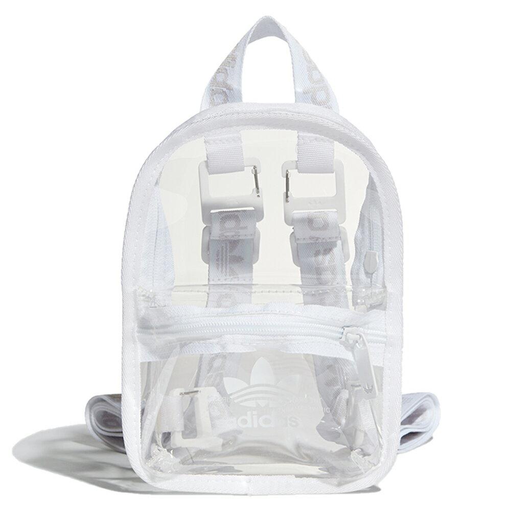 【滿額最高折318】【現貨】Adidas Originals 背包 後背包 小包 休閒 透明 白【運動世界】H51001