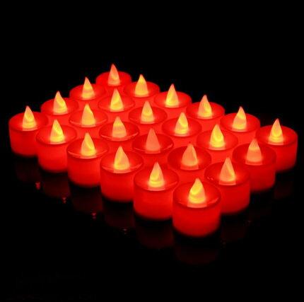 LED電子蠟燭 愛心浪漫生日裝飾場景佈置電子蠟燭燈光LED情人節吹求婚表白形 『MY6898』