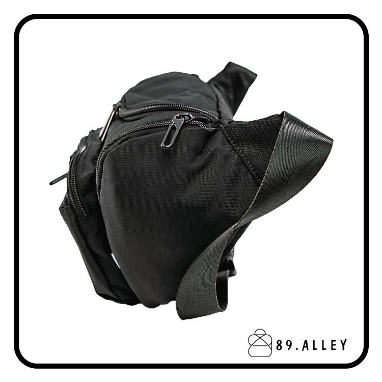腰包 單肩包 女包男包 黑色系防水包 輕量尼龍立體圓弧情防搶包 89.Alley 2
