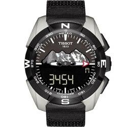 TISSOT天梭 T0914204605110 T-TOUCH EXPERT 太陽能觸控腕錶/黑 45mm