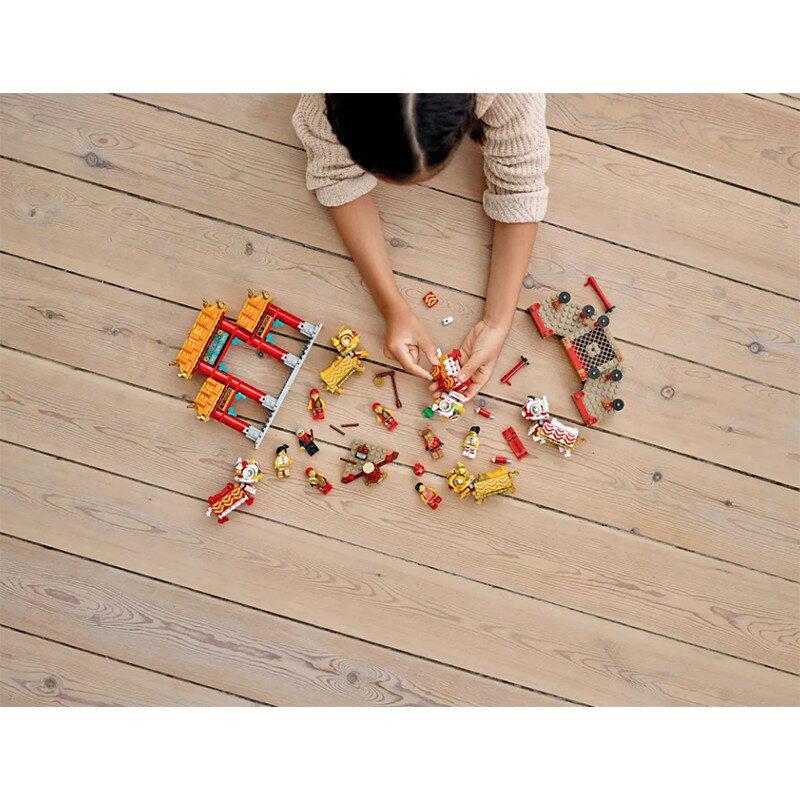【LETGO】現貨 2020樂高積木 LEGO 農曆新年集 New Year 80104 舞獅 + 80105 廟會