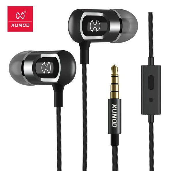 【XUNDD】HE-001重低音入耳式耳機--黑紅3.5mm