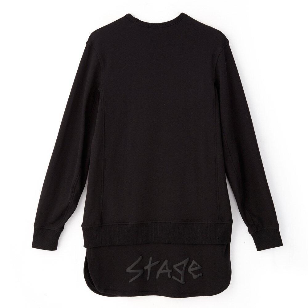 STAGE SAGGY LONGLINE SWEATER 黑色 單色 2