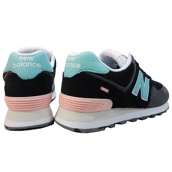 Shoestw【ML574UJC】NEW BALANCE NB574 運動鞋 Wide 黑灰粉蒂芬妮綠 男女尺寸 1
