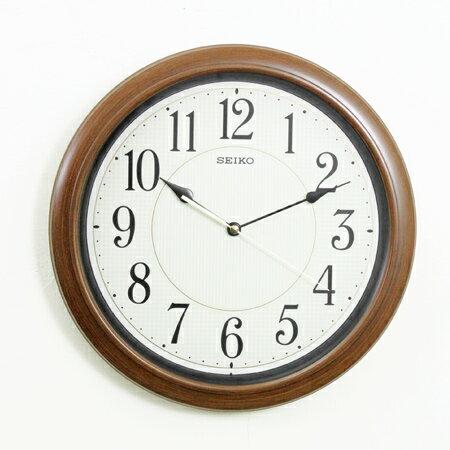 SEIKO精工時鐘 仿木紋全面盤夜光 掛鐘 滑動式靜音秒針 柒彩年代~NG1741~ 貨