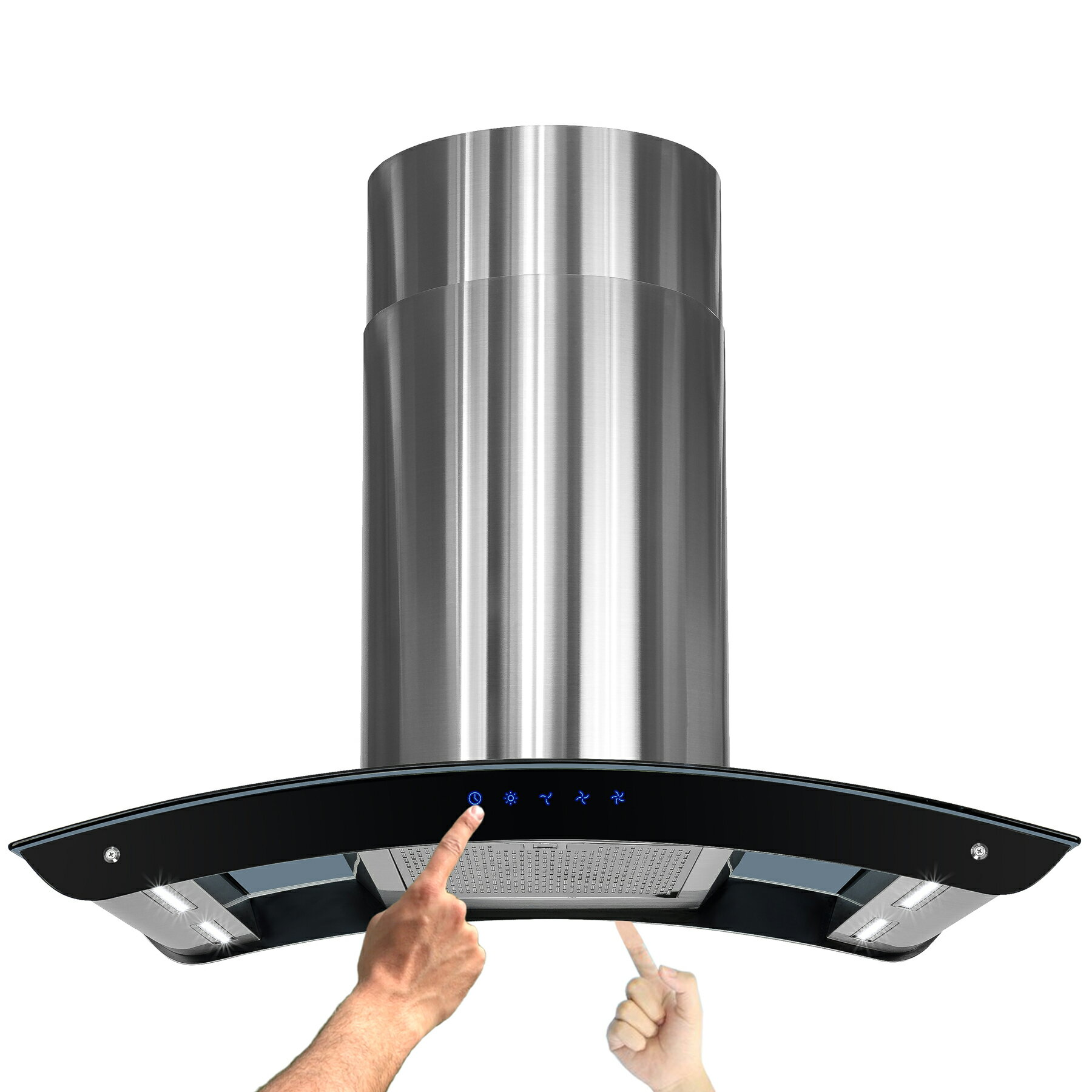"""AKDY New 36"""" European Style Island Mount Stainless Steel Range Hood Vent Touch Control 0"""