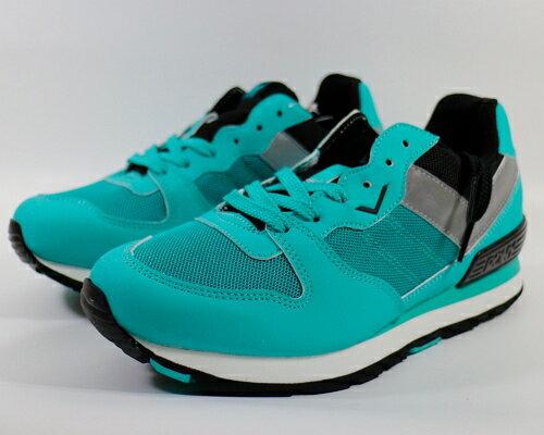 [陽光樂活]PONY YORK 復古慢跑鞋 金屬爍霓虹 湖綠 54W1YK61CB(5折出清)【12/1-31 單筆滿2000結帳輸入序號 XmasGift-outdoor 再折↘250 | 單筆滿1..