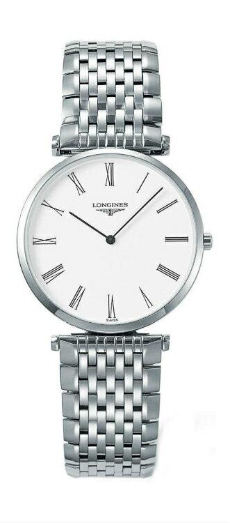 LONGINES L47094116嘉嵐石英超薄優雅腕錶/白面33mm