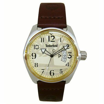 Timberland天柏嵐TBL.13679JLTG07咖啡時尚潮流腕錶白面43mm