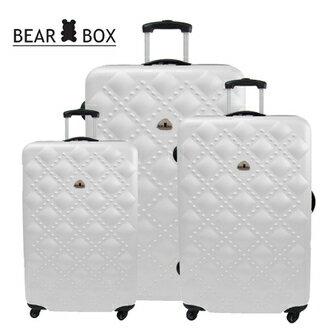 ✈Bear Box 時尚香奈兒系列ABS霧面輕硬殼三件組旅行箱 / 行李箱 4