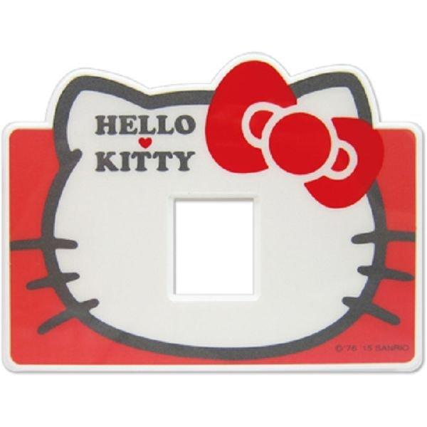 【真愛日本】15040300011 開關蓋板-單孔頭型紅 三麗鷗 Hello Kitty 凱蒂貓 居家 家飾 正品 限量