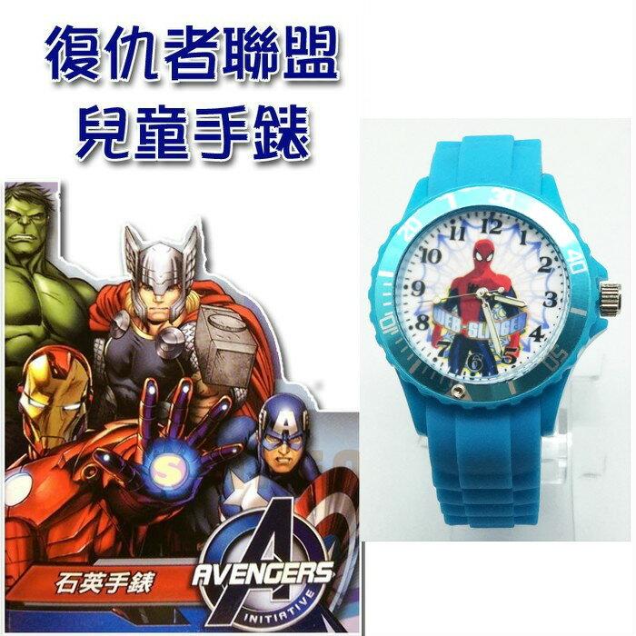 【禾宜精品】漫威系列 蜘蛛人 藍色 SPIDERMAN 運動型兒童手錶 夜光指針 日本機芯 台灣製造