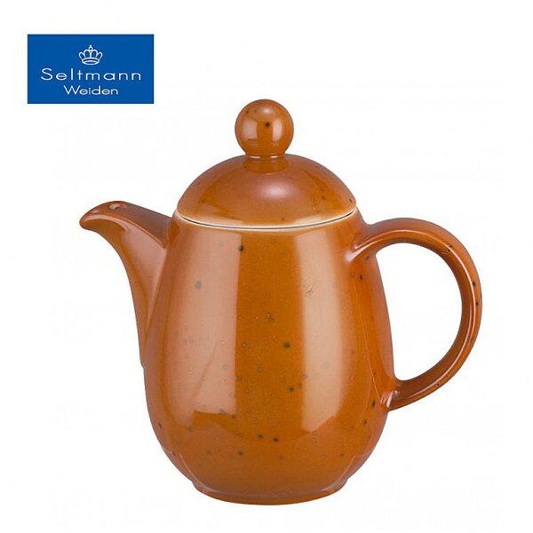 德國百年名瓷頂著皇冠的雪曼威登咖啡壺(珊瑚紅)360ml▶全館滿499免運